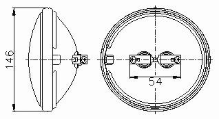 Sealed Beam Lamp 4554 - Screw Terminals