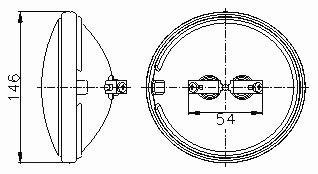 Sealed Beam Lamp Q4681 - Screw Terminals