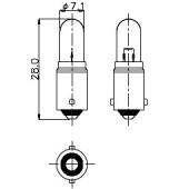 T-2 1/4 BA9s