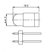 T-13/4 BPR Lamp 6233