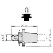 T-11/2PBB PCB Lamp Bayonet 5015