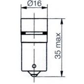 Ba15 5 LED Cluster White 130BR