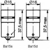 Ba15 8 LED Cluster Red 24BR