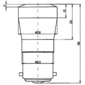 Ba22 Cluster Lamp White 130BR