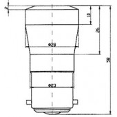 Ba22 Cluster Lamp Green 130BR