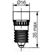 E14 5 LED Cluster Red 130BR