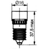 E14 8 LED Cluster Red 24BR